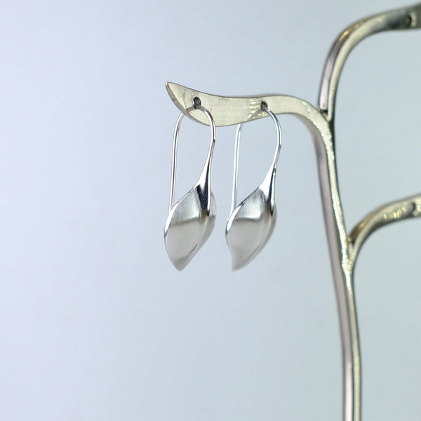 Brushed Silver Drop Earrings by JB Designs.