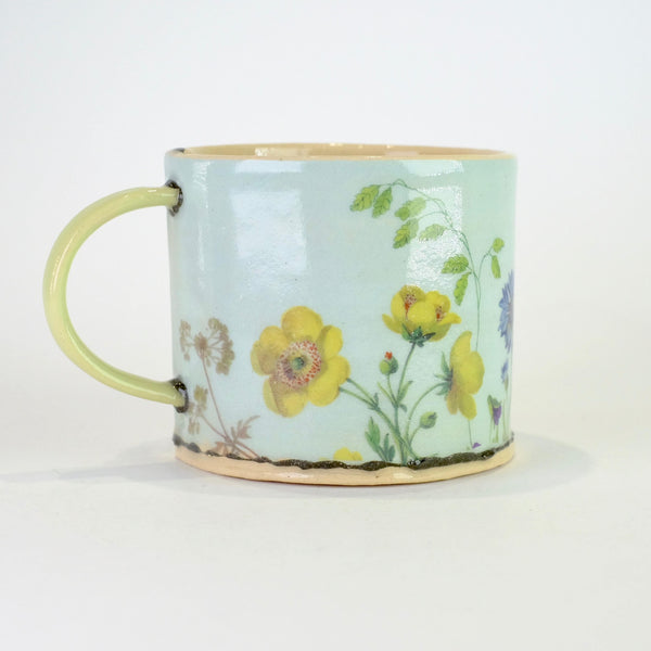 Handmade Floral Ceramic Mini Mug by Virginia Graham.