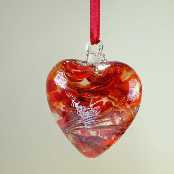 Glass Friendship Heart - Red.