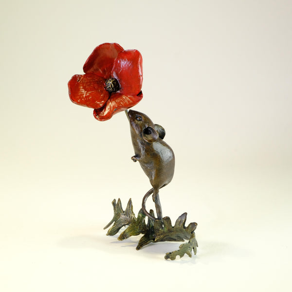 Bronze 'Mice with Poppy' by Michael Simpson
