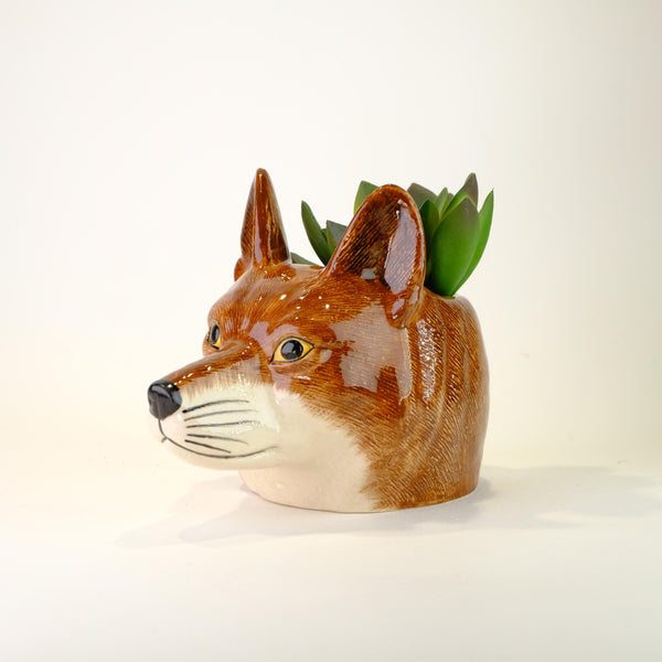 Ceramic Fox Face Egg Cup.