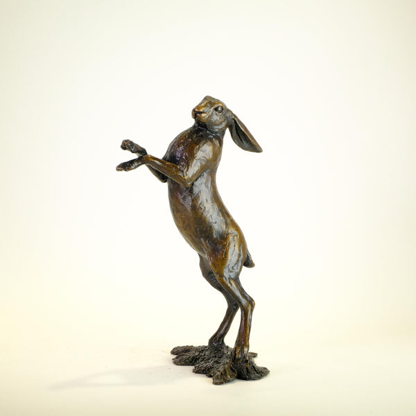 Bronze  'Medium Standing Hare' by Michael Simpson