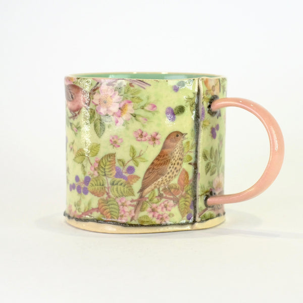 Handmade Ceramic Birds Mini Mug by Virginia Graham.
