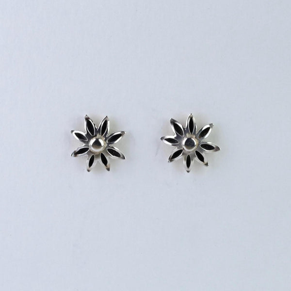 Handmade Silver 'Star Anise' Stud Earrings by Sheena Mcmaster.