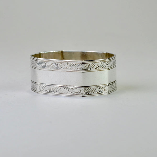Single Vintage Silver Napkin Ring, Hallmarked Birmingham, 1926