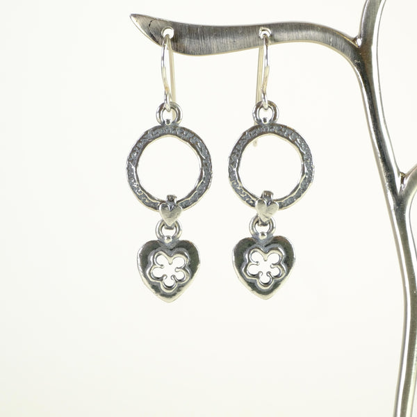 Handmade Silver Drop Earrings.