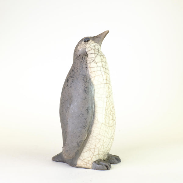 Small Raku Penguin by Paul Jenkins.