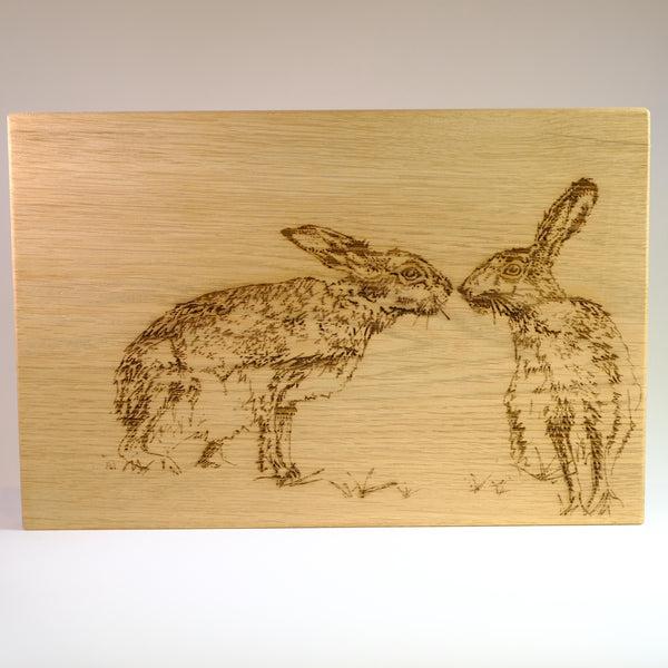'Hares' Oak Chopping Board.