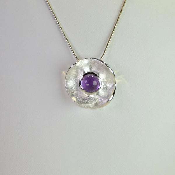Amethyst and Silver Pendant by JB Designs.