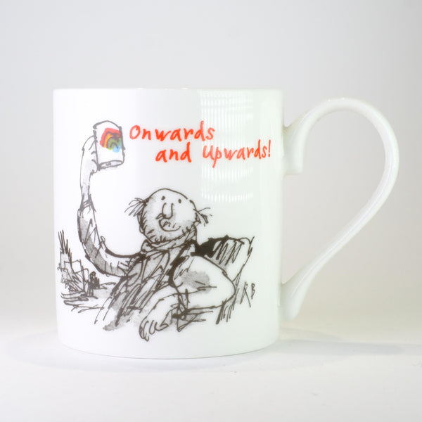 'Onwards and Upwards' by Quentin Blake Bone China Mug.