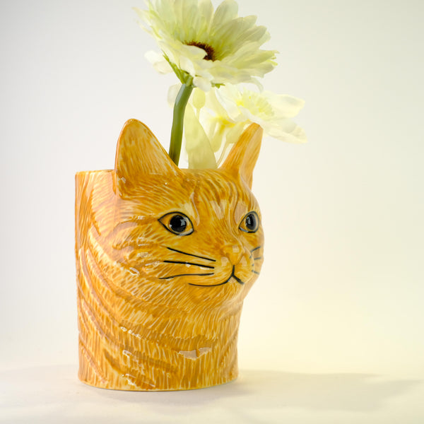 Ceramic 'Vincent Cat' Pot.