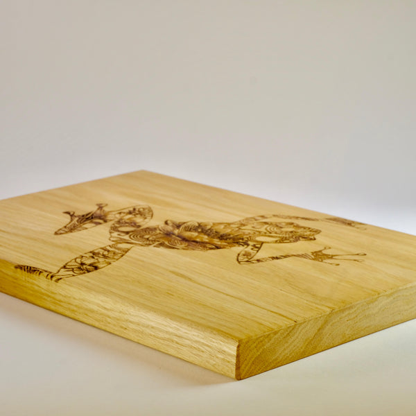 'Frog' Oak Chopping Board.