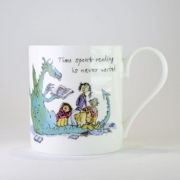 'Time Spent Reading' by Quentin Blake Bone China Mug.
