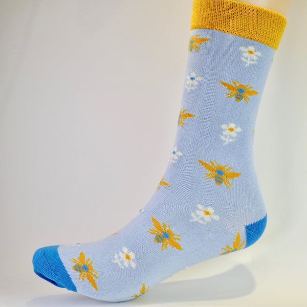Blue Bee Ankle Socks.