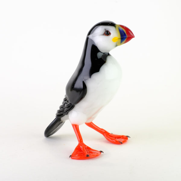Handmade Glass Puffin by Elizabeth Welch.