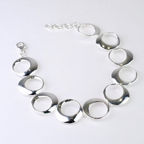 Polished Silver Linked Bracelet by JB Designs.