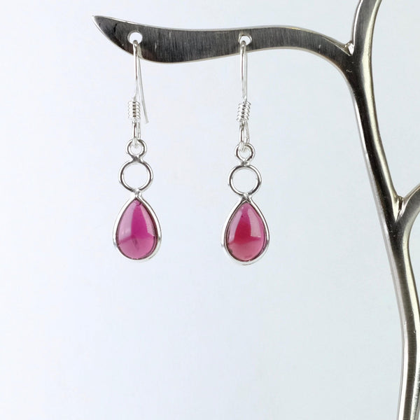 Sterling silver and Oval Garnet Drops.