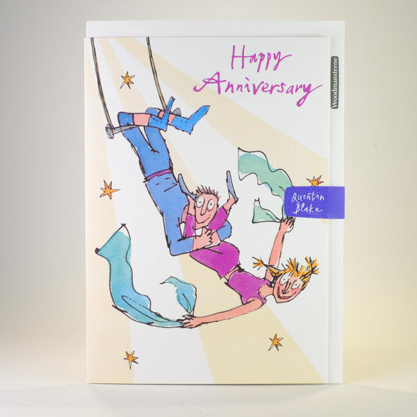 Quentin Blake Happy Anniversary Card.