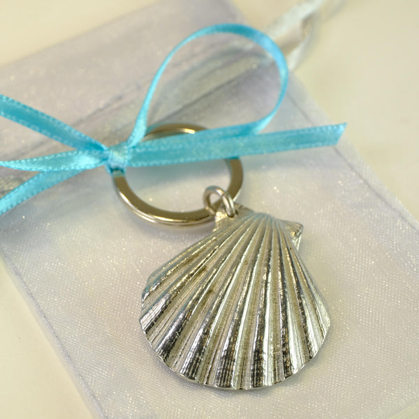 Pewter Shell Keyring.