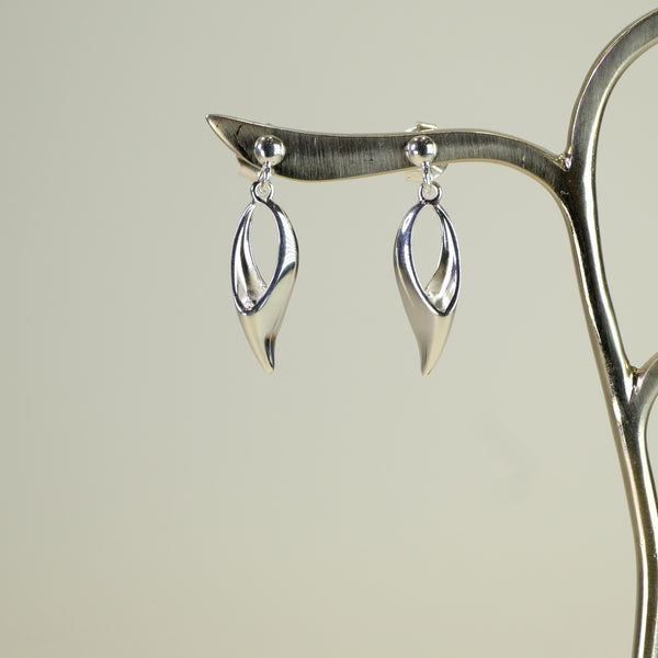 Silver Drop Earrings by JB Designs.