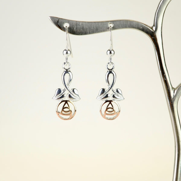 Silver and Gold Plated Mackintosh Style Earrings.