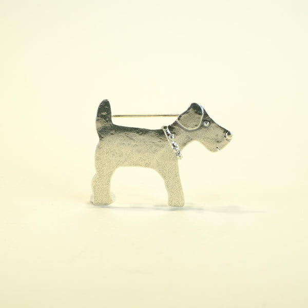 Silver 'Terrier' Dog Brooch by JB Designs