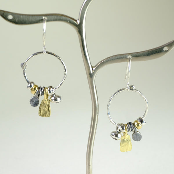Silver and Gold Plated Earrings by LBJ Designs.