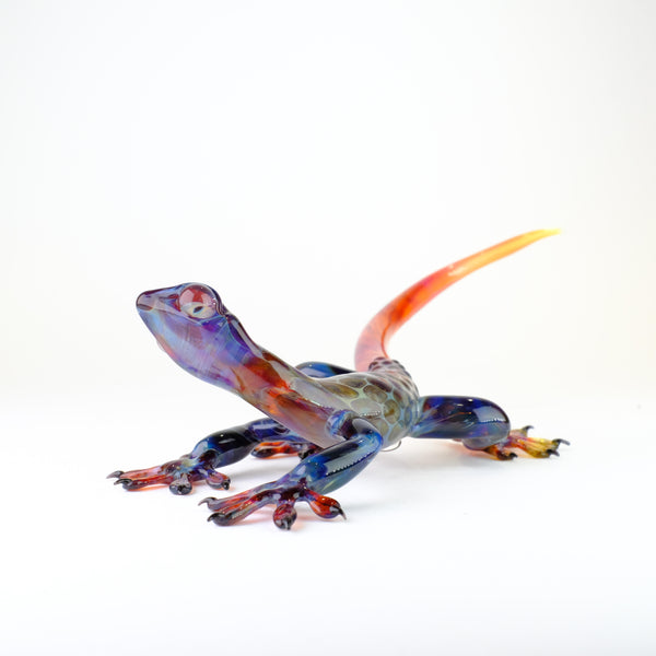 Handmade Glass Gecko by Elizabeth Welch.
