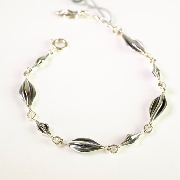 Oxidised Silver Linked Bracelet by LBJ Designs.