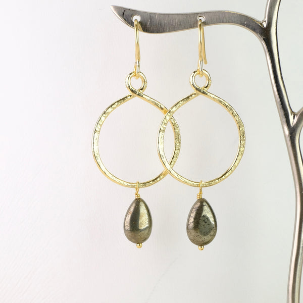 Handmade Silver and Gold Plated Earrings with Pearl by JB Designs.