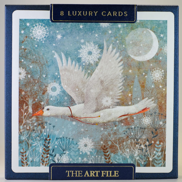 Box of 8 Luxury Snow Goose Christmas Cards.