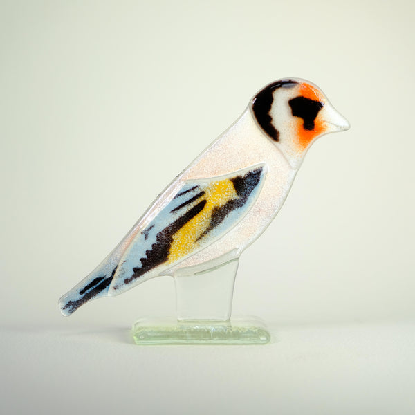 Fused Glass Goldfinch.