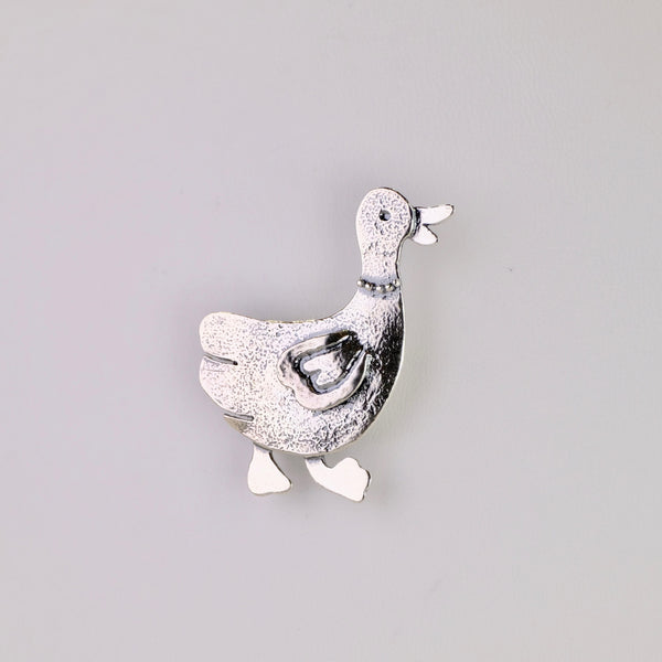 Silver Duck Brooch by JB Designs.