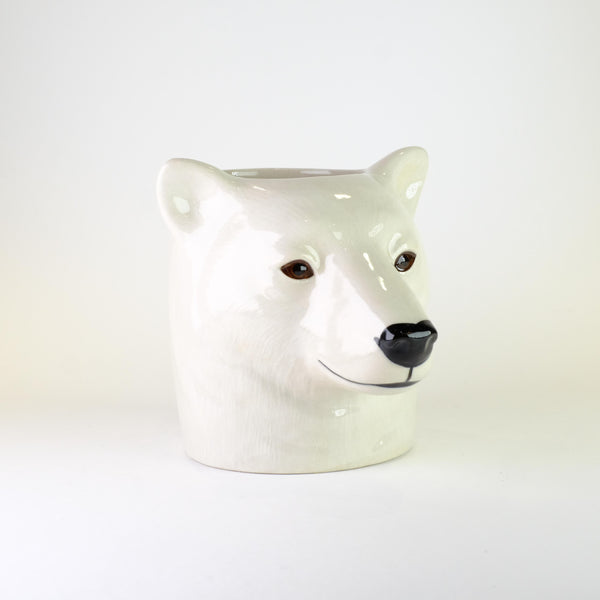 Ceramic 'Polar Bear' Pencil Pot.