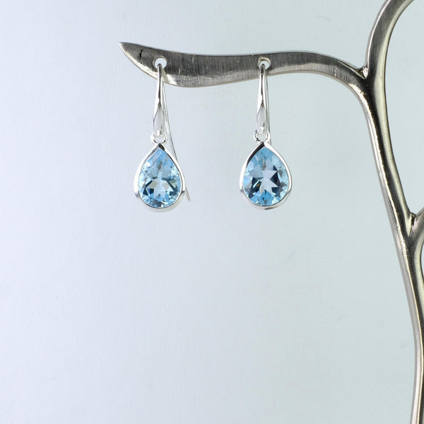 Blue Topaz and Silver Earrings by JB Designs.