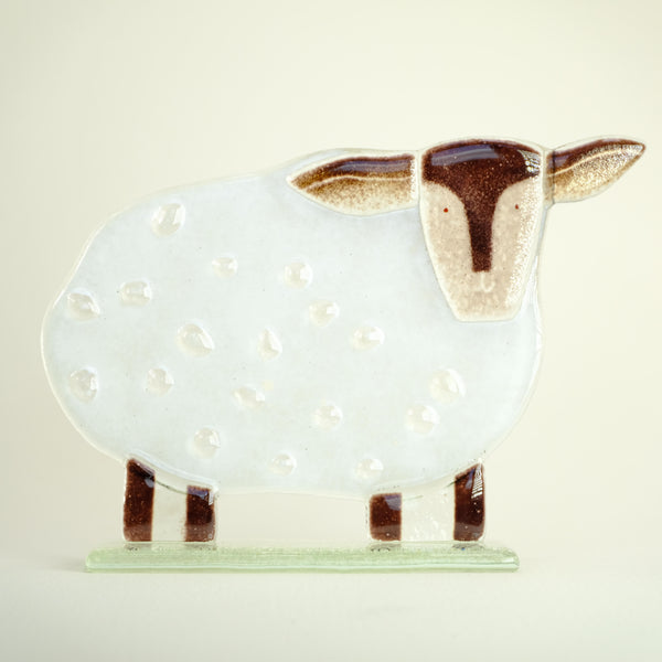 Fused Glass 'Sean the Sheep'