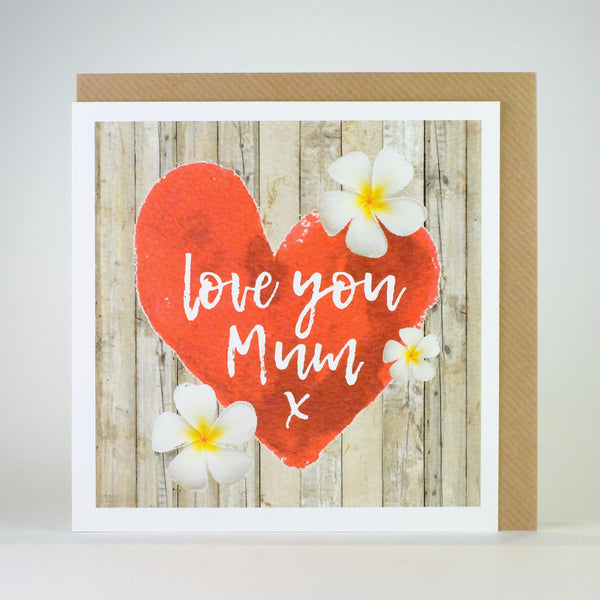 'Love you Mum' Card.