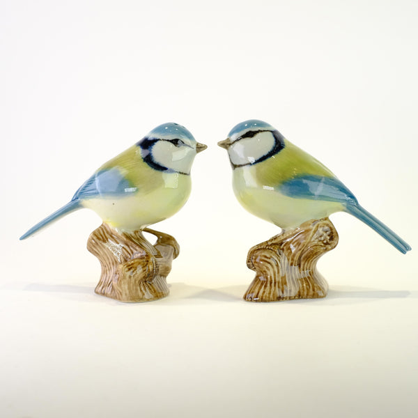 Ceramic 'Blue Tit' Salt and Pepper Set by Quail.