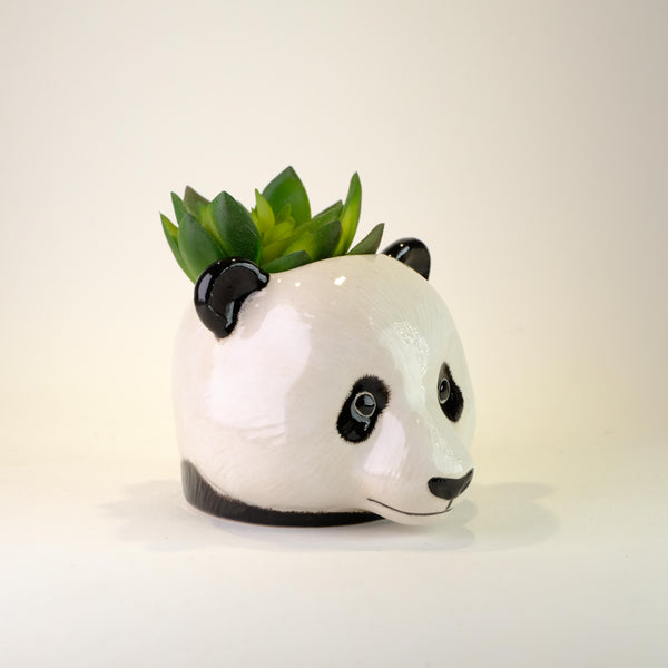 Ceramic Panda Face Egg Cup.