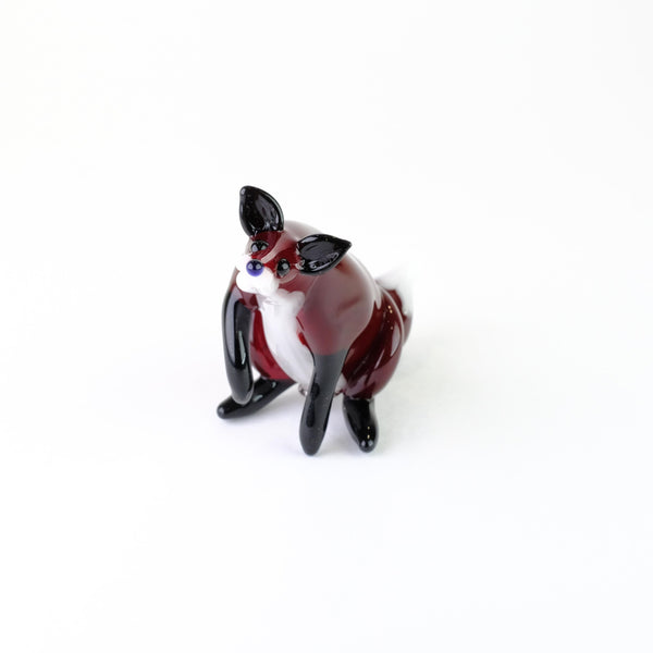Handmade Glass Fox by Elizabeth Welch.