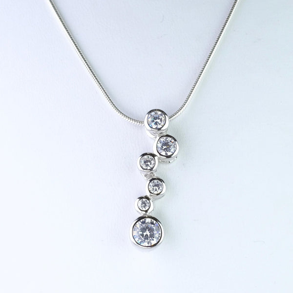 Sterling Silver and CZ Pendant by JB Designs.