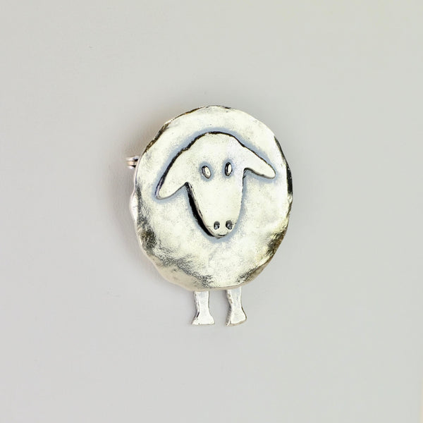 Silver Dancing Sheep Brooch by JB Designs.