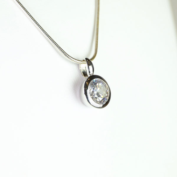 Sterling Silver and CZ Pendant.