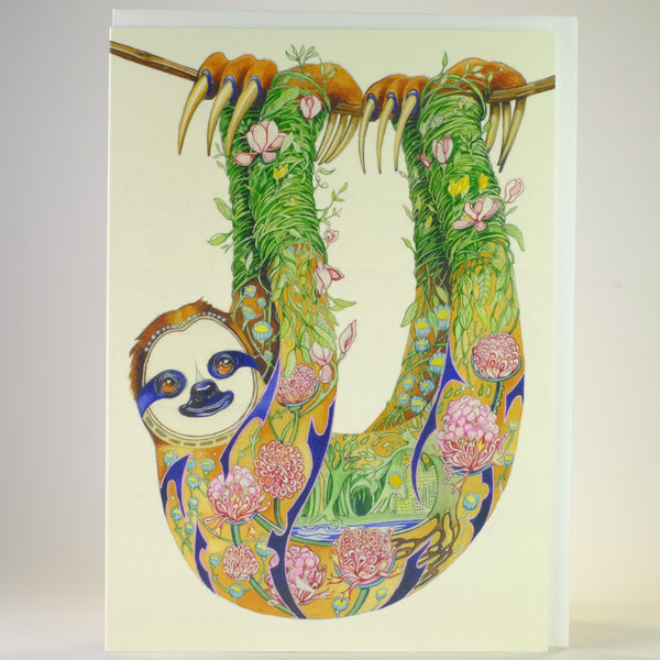 'Sloth' Blank Greetings Card.