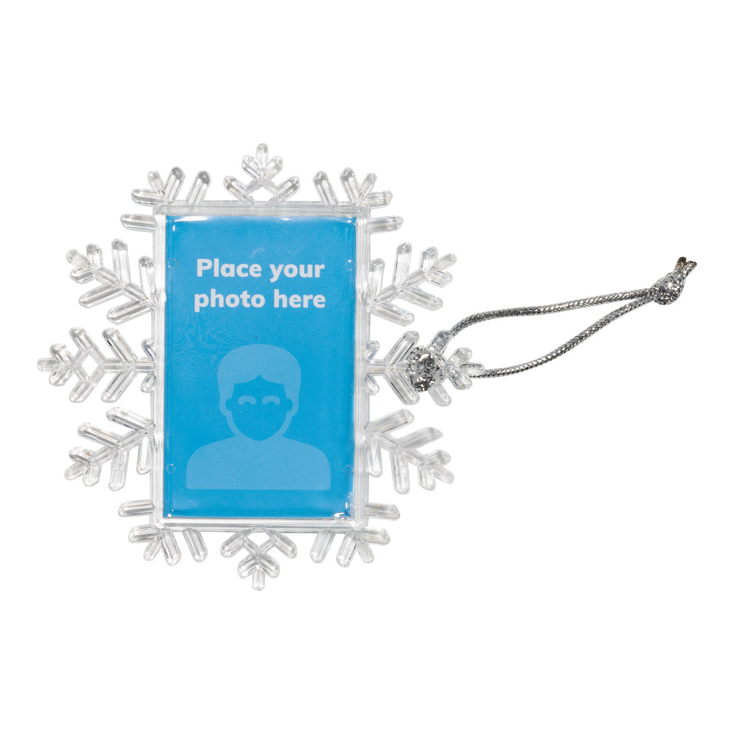 Snowflake photo ornament - 32 pcs.