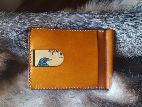 Money Clip Leather Wallet, 6 credit card slots