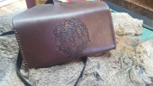 Load image into Gallery viewer, Green Man Leather Envelope Clutch