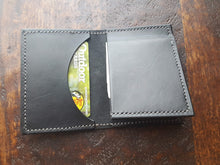 Load image into Gallery viewer, Unique Design Billfold Classic Black Leather Wallet
