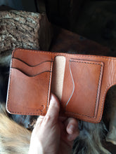 Load image into Gallery viewer, Saddle Tan Leather Snap Wallet, 5 pocket