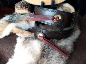 Leather Guitar Strap, Country Western Style